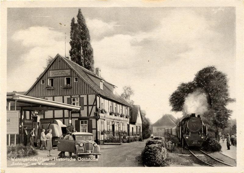 Tankstelle Westerntor - historische Ansicht