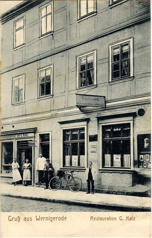 Restauration G. Kalz, Ansichtskarte 1910