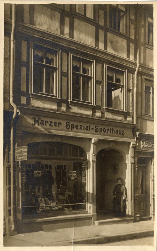 Ansichtskarte Harzer Spezial-Sporthaus Theilig
