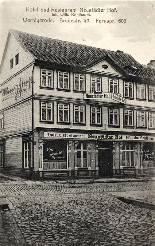 Hotel Neustädter Hof, 1913