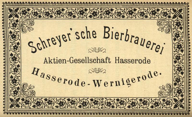 Schreyer Bierbrauerei AG 1897