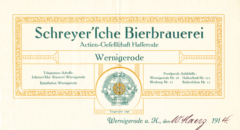 Briefkopf 1914