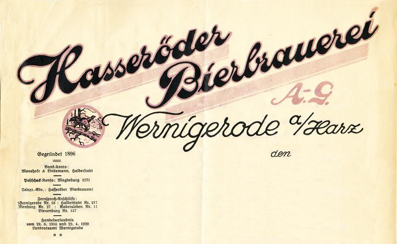 Briefkopf 20er Jahre