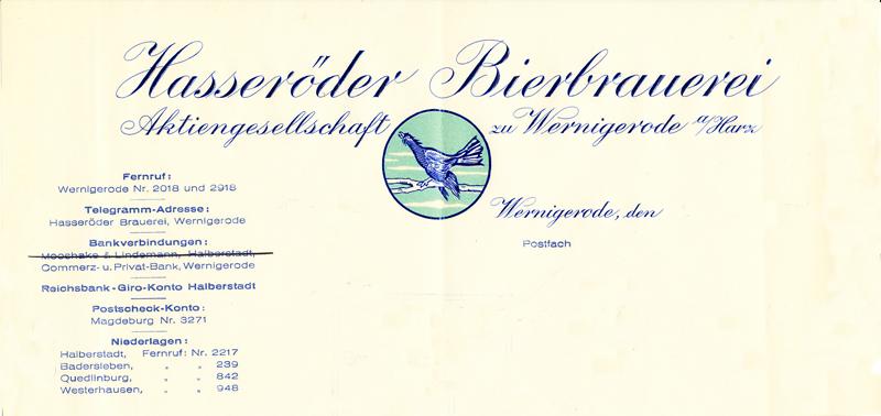 Briefkopf Ende 30er Jahre