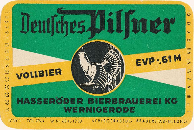 Etikett, 50er - 60er Jahre