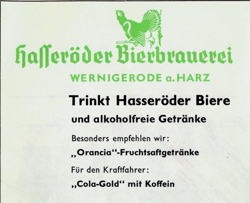 Anzeige aus dem Jahre 1962