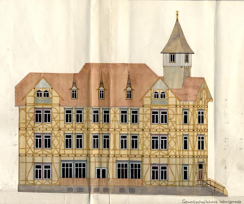 Bauzeichnung, Gewerkschaftshaus, 1961 - Bauarchiv Stadtverwaltung