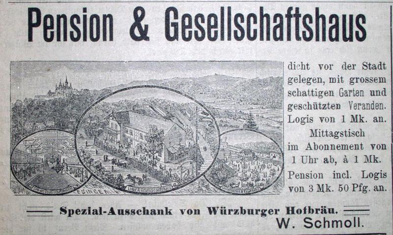 letzte Anzeige mit der alten Ansicht, 1894