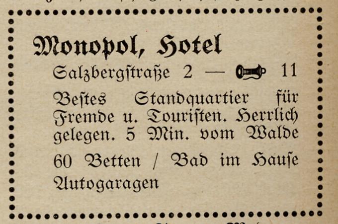 Anzeige 1930