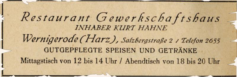 Anzeige 1948