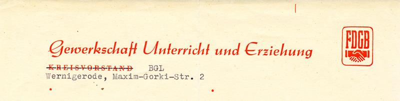 Briefkopf 1959