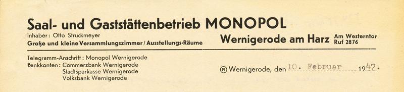 Briefkopf 1947