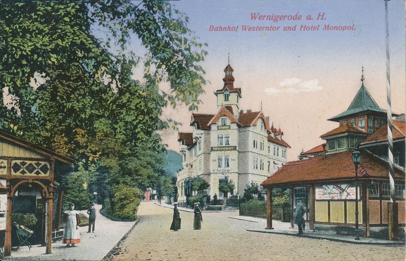 Blick auf Hotel Monopol, Ansichtskarte 1910