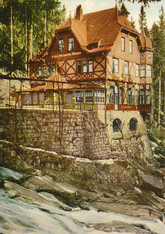 """HO- Hotel und Gaststätte """"Steinerne Renne"""" 1969, Postkatenverlag E. Riehn, Wernigerode"""