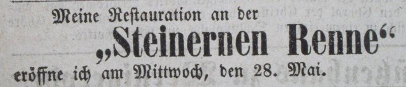 Anzeige zur jährlichen Öffnung, 28. Mai 1873