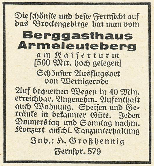 Anzeige 1928