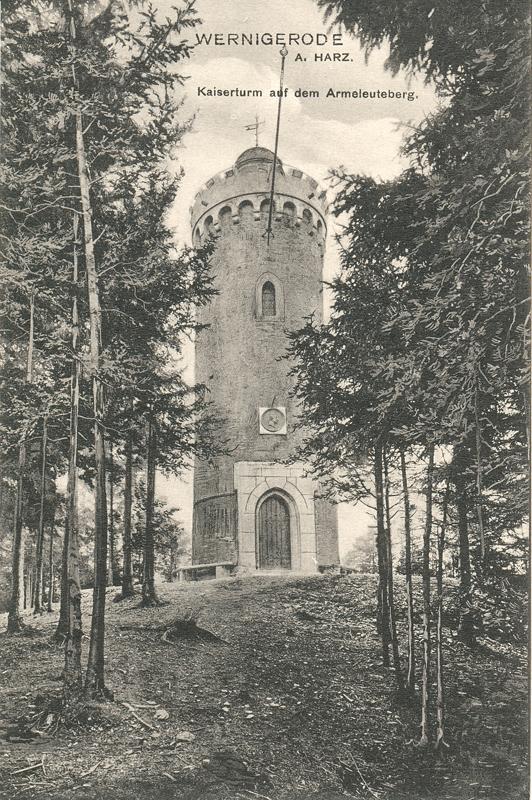Kaiserturm auf dem Armeleuteberg, Ansichtskarte 1910