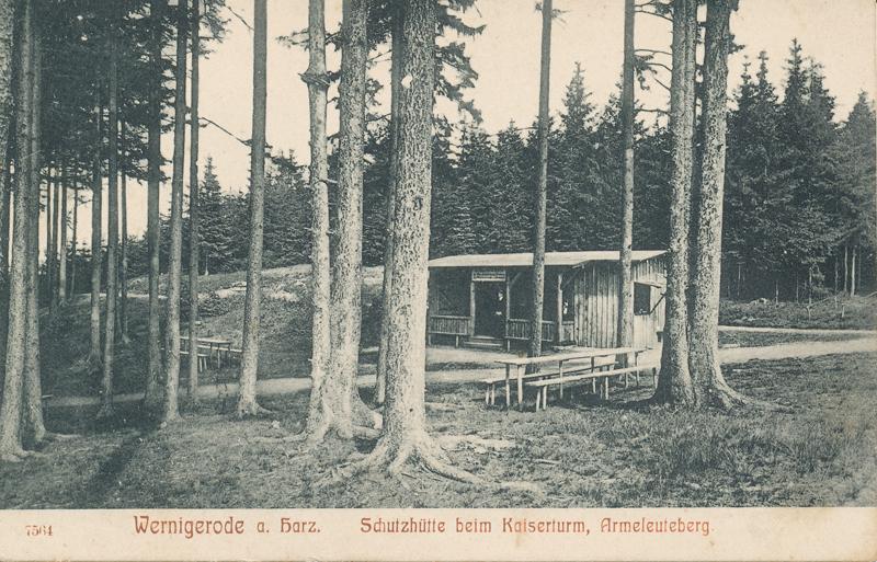 Schutzhütte am Kaiserturm, Ansichtskarte 1906