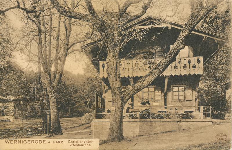 Gasthaus Christianental, Ansichtskarte um 1907