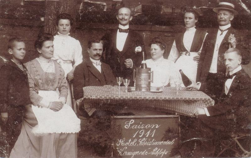 Foto, Saison 1911 Hotel Christianental, unbekannt