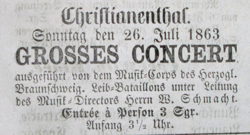 Anzeige 1863