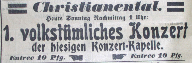 Anzeige 1904