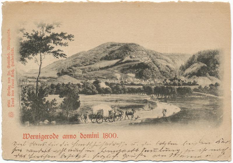 Ansichtskarte aus dem Jahre 1889